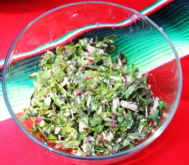Lemon Tahini Chard Salad