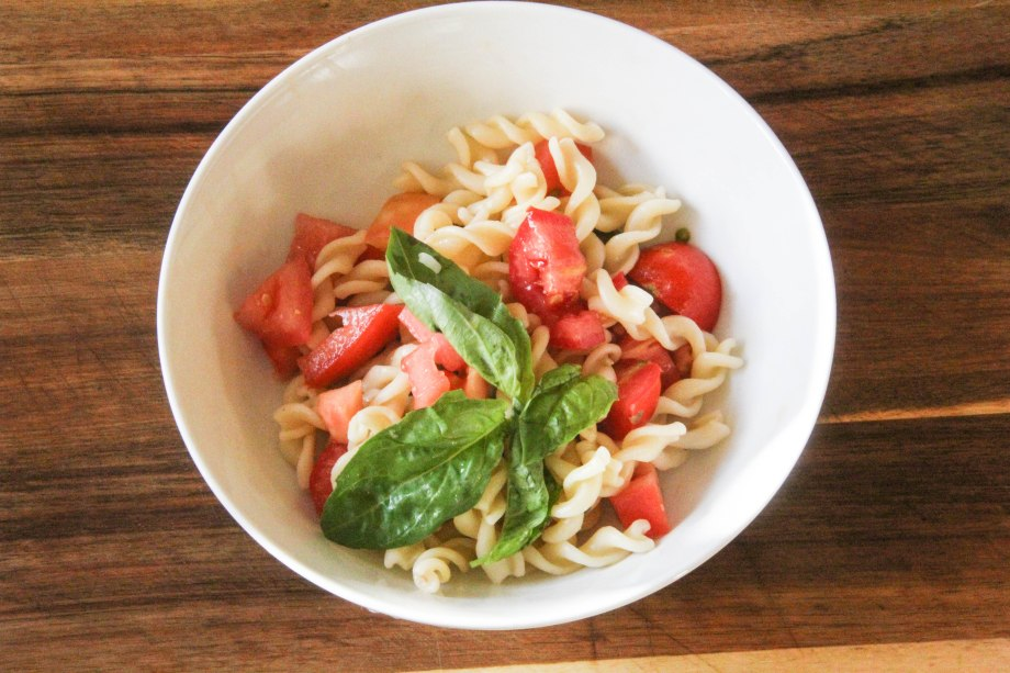 Caper and Heirloom Salad Pasta Salad