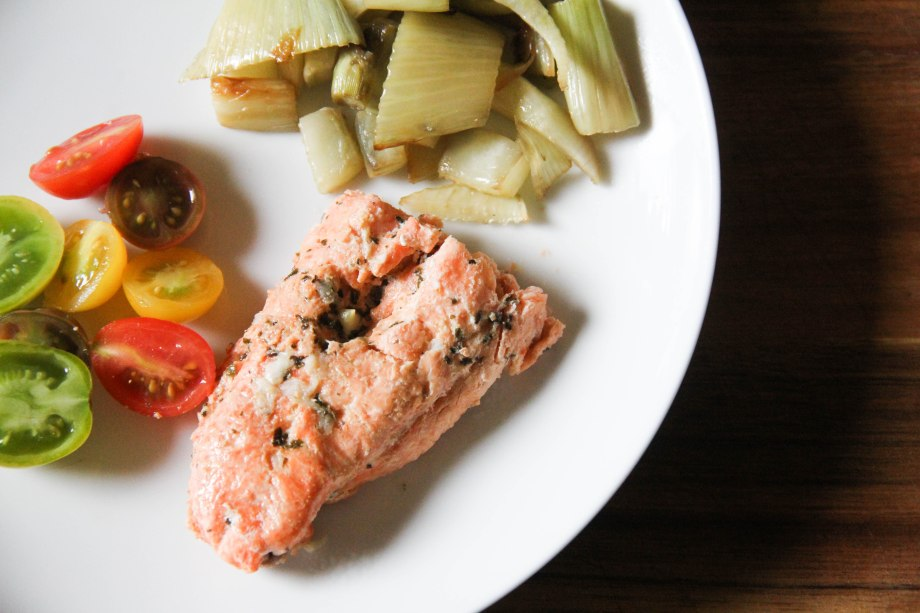 Coho Salmon , Fennel and Tomatoes