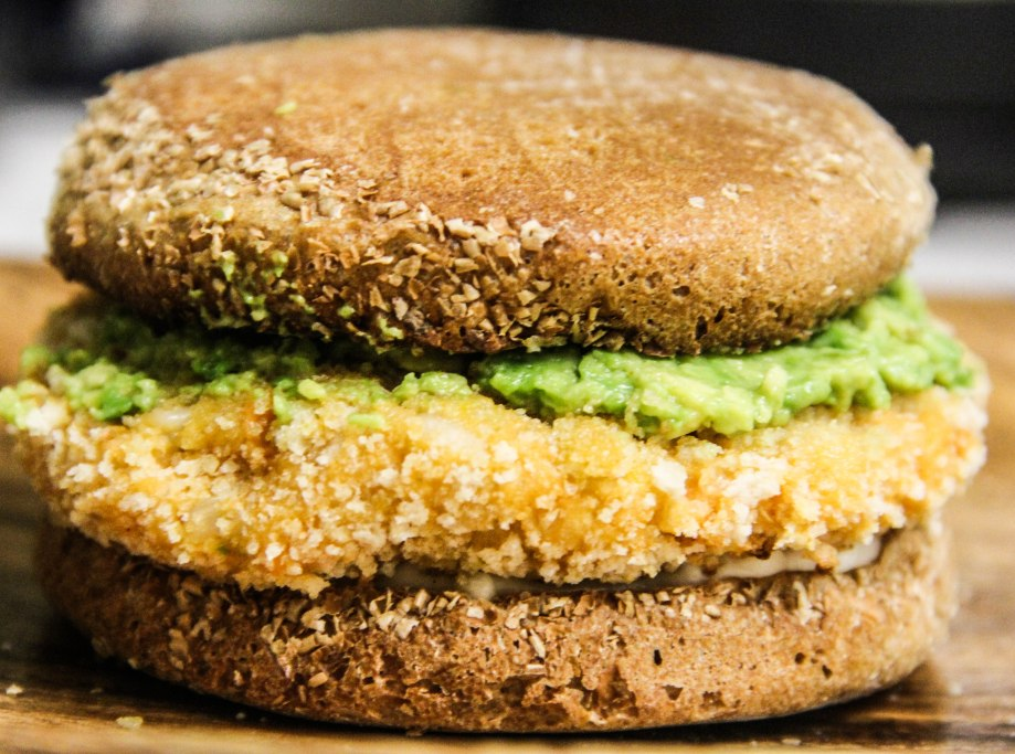 Sweet Potato and Brown Rice Burger with Guacamole